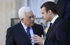 امانویل مکرون محمود عباس 226x145 - گفتگوی تلیفونی رییس جمهور فرانسه با رییس اداره خودگردان فلسطین