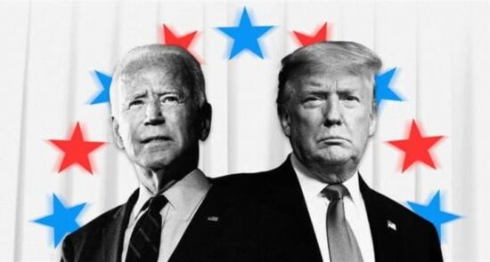 ترمپ بایدن 550x295 - افزایش نگرانیها از بروز آشوبهای پساانتخاباتی در امریکا