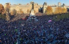 تظاهرات فرانسه 1 226x145 - مظاهره دهها هزار نفر علیه خشونت و نژادپرستی پولیس در فرانسه