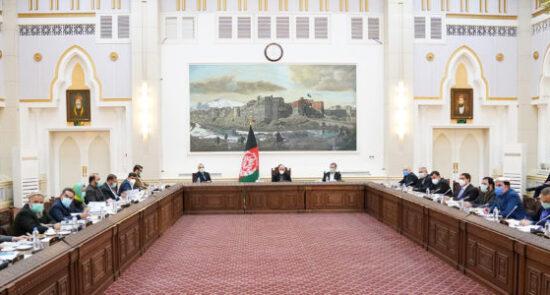 جلسه کابینه غنی 550x295 - گزارش کامل جلسه کابینه به ریاست رئیس جمهوری اسلامی افغانستان