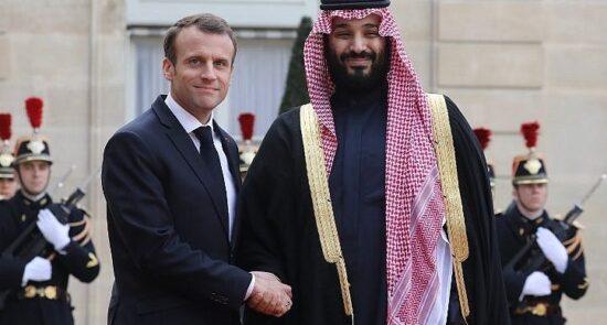 فرانسه عربستان 550x295 - گفتوگوی تلیفونی ولیعهد عربستان سعودی با رییسجمهور فرانسه