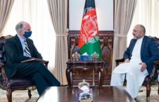 محمد حنیف اتمر راس ویلسن. 226x145 - دیدار سرپرست وزارت امور خارجه با شارژدافیر سفارت امریکا در کابل
