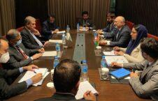 محمد حنیف اتمر شاه محمود قریشی 226x145 - دیدار وزیر امور خارجه کشور با همتای پاکستانی اش