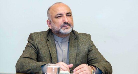 محمد حنیف اتمر  550x295 - اشتراک وزیر امور خارجه در اجلاس سه جانبه افغانستان - اوزبیکستان – پاکستان
