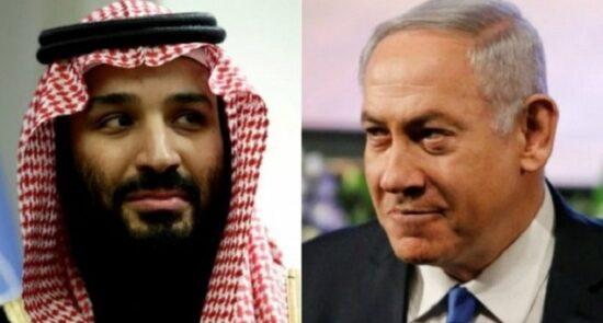 نتانیاهو بنسلمان 550x295 - جزییات دیدار صدراعظم اسراییل با ولیعهد عربستان سعودی