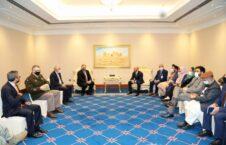 پومپیو قطر 226x145 - جزییات دیدار وزیر امور خارجۀ امریکا با هیئت حکومت افغانستان و طالبان