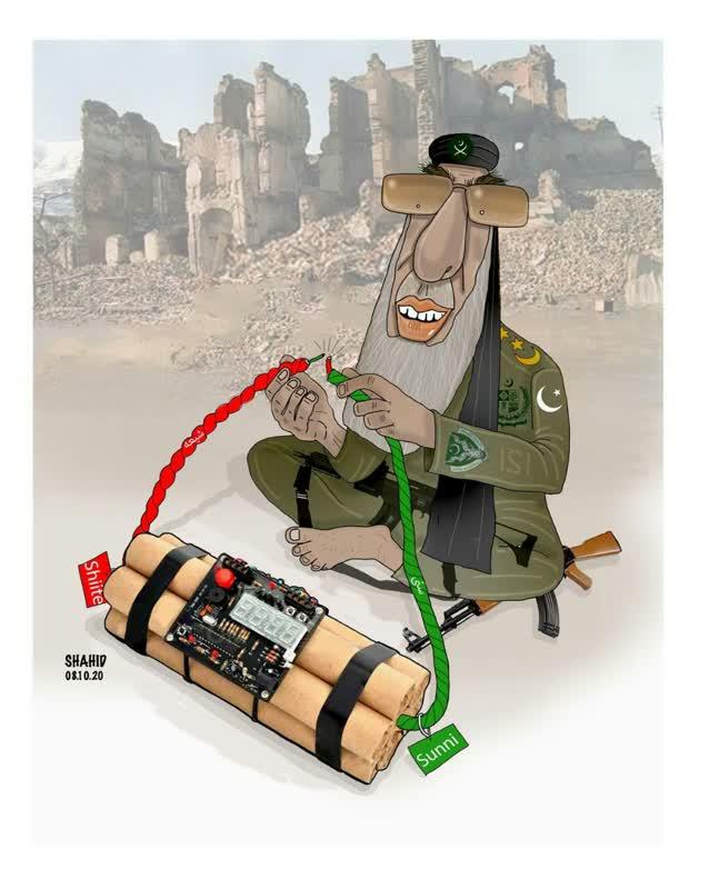 گلبدین حکمتیار - کاریکاتور/ ماموریت حکمتیار در افغانستان