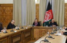 اشرف غنی نانسی پلوسی کانفرانس 226x145 - گفتگوی ویدیویی رییس جمهوری اسلامی افغانستان با رییس کانگرس ایالات متحدۀ امریکا