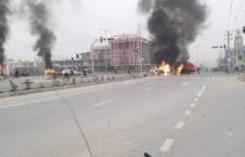 انفجار حاجی خان محمد وردک 7 226x145 - تصاویر/ انفجار بر کاروان موترهای یک عضو ولسی جرگه در کابل