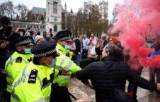 تظاهرات بریتانیا کرونا 3 226x145 - تصاویر/ اعتراض به محدودیتهای کرونایی در بریتانیا