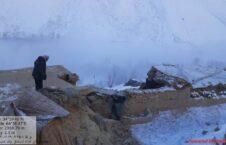 ریزش سنگ بامیان 1 226x145 - تصاویر/ ریزش سنگ و تخریب چند خانه در ولایت بامیان
