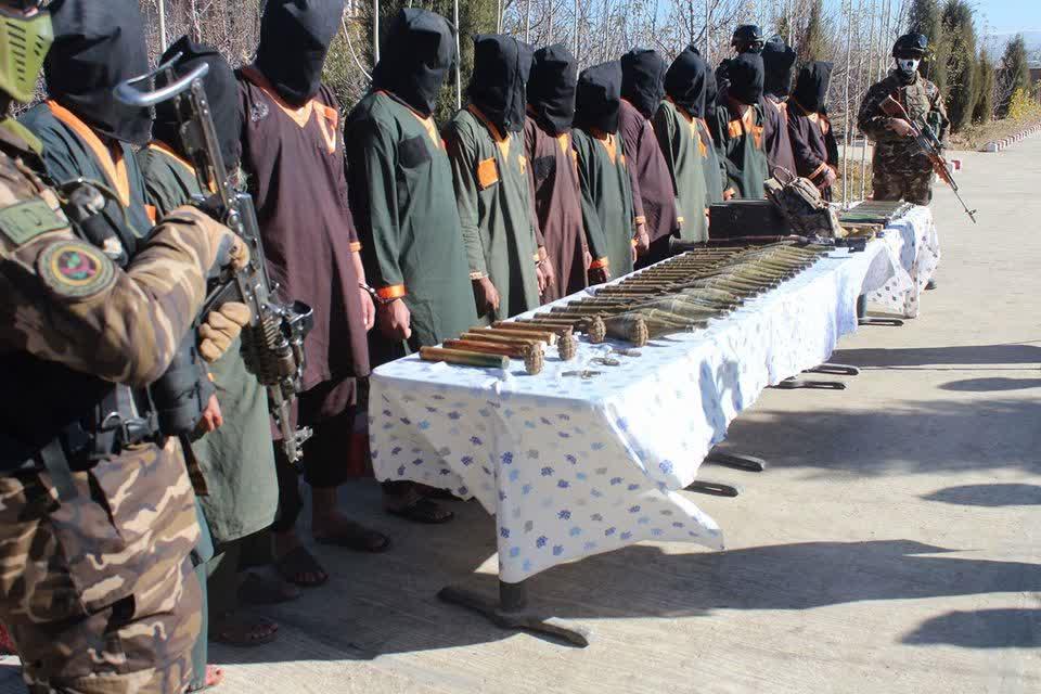 طالبان سلاح پکتیا 2 - تصویر/ دستگیر شدن هفت طالب مسلح در ولایت پکتیا
