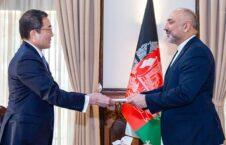 محمد حنیف اتمر تاکاشی اوکادا 226x145 - دیدار وزیر امور خارجه با سفیر جدید التقرر جاپان برای افغانستان