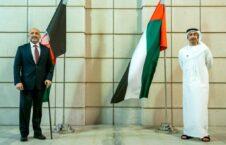 محمد حنیف اتمر عبدالله بن زاید 226x145 - تاکید محمد حنیف اتمر بر نقش مهم امارات در قبال روند صلح افغانستان