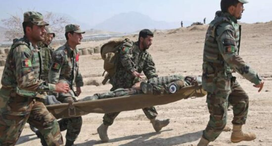 اردوی ملی 550x295 - حمله هوایی طالبان بر قولاردوی 217 پامیر در کندز؛ دست آشکار پاکستان در جنگ افغانستان