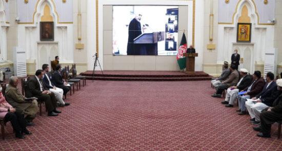 اشرف غنی نمایندگان سکتور خصوصی 550x295 - دیدار نمایندگان سکتور خصوصی با رییس جمهوری اسلامی افغانستان