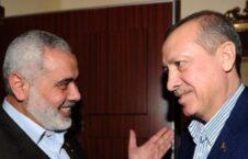 اسماعیل هنیه رجب طیب اردوغان 226x145 - درخواست رهبر گروه حماس از رییس جمهور ترکیه