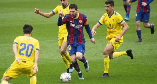 بارسلونا کادیز 550x295 - واکنش مطبوعات هسپانیا به تساوی بارسلونا مقابل کادیز