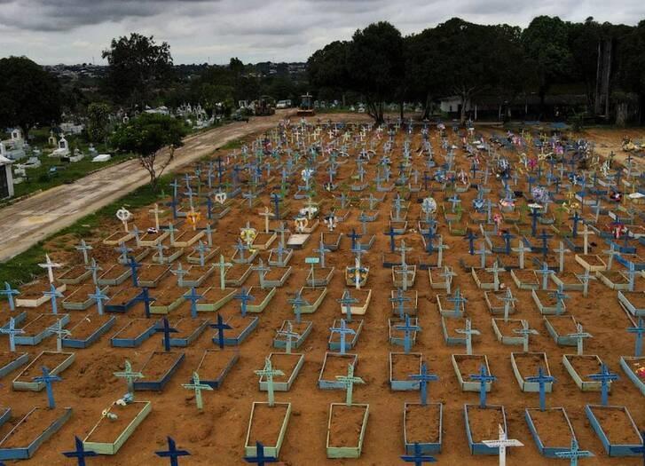 برازیل کرونا - تصویر/ قبرستان کرونایی ها در برازیل