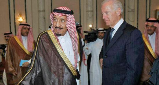 جو بایدن ملک سلمان 550x295 - توصیه رییس جمهور ایالات متحده امریکا به پادشاه عربستان سعودی