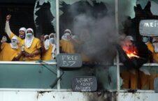 سنت لوییس شورش 6 226x145 - تصاویر/ اعتراض زندانیان به شیوع کرونا در زندان سنت لوییس امریکا