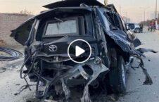 ویدیو انفجار موتر رییس وزیر دولت صلح 226x145 - ویدیو/ لحظات پس از انفجار بالای موتر رییس دفتر وزیر دولت در امور صلح