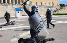 پولیس یونان 226x145 - تصویر/ درگیری پولیس یونان با محصلین