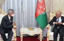 اشرف غنی سابرامانیام جایشنکر 226x145 - دیدار رییس جمهوری اسلامی افغانستان با وزیر امور خارجه هند