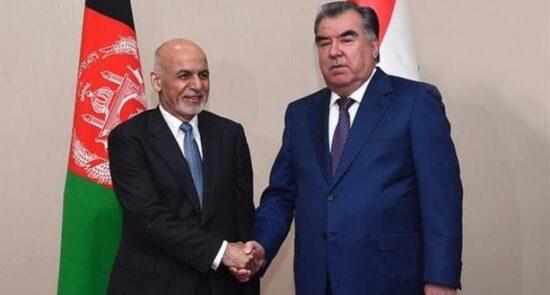 افغانستان تاجکستان 550x295 - استقبال وزیر امور خارجه تاجکستان از سفر رییس جمهوری افغانستان به دوشنبه