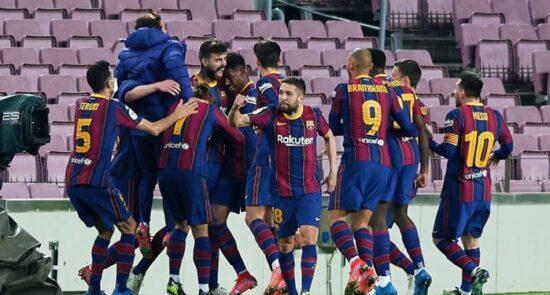 بارسلونا 550x295 - صعود تیم فوتبال بارسلونا به مرحله نهایی جام حذفی هسپانیا