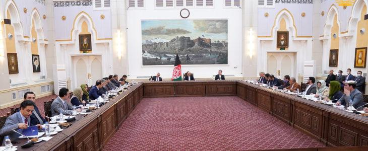 جلسه کابینه 1 - برگزاری جلسه کابینه با اشتراک اعضا و والیان کشور در ارگ ریاست جمهوری