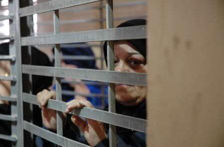 زندان دامون 450x295 - مظاهره باشنده گان فلسطینی در مقابل زندان دامون