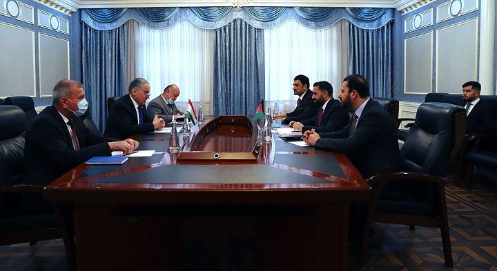 میرویس ناب سراجالدین مهرالدین - استقبال وزیر امور خارجه تاجکستان از سفر رییس جمهوری افغانستان به دوشنبه