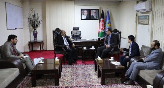 نور الرحمن اخلاقی منصور احمد خان 550x295 - دیدار وزیر امور مهاجرین با سفیر پاکستان مقیم کابل