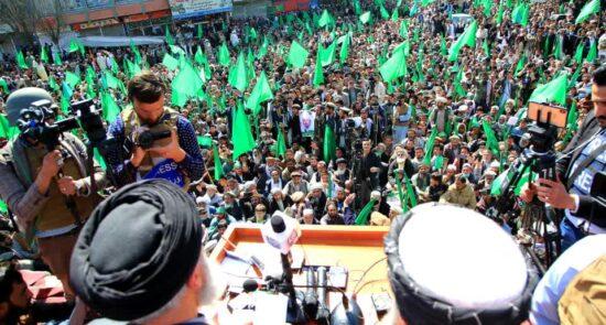 گلبدین حکمتیار 550x295 - از راهپیمایی اعتراضی هواداران حزب اسلامی تا فرصت ده روزه حکمتیار به حکومت!