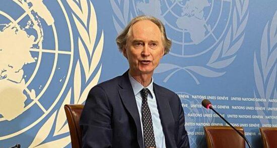 گیر پدرسون 550x295 - درخواست فرستاده سازمان ملل از کشورهای غربی برای کاهش تحریمهای سوریه