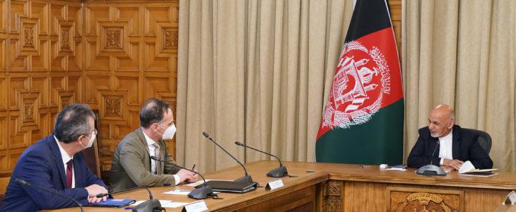 اشرف غنی هایکو ماس - تداوم کمک های نظامی، بشردوستانه و انکشافی جرمنی با افغانستان