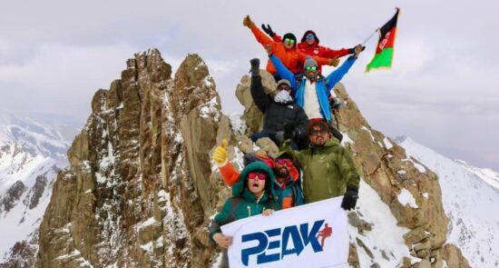 بانوی کوهنورد بامیان  550x295 - صعود دو بانوی کوهنورد به بلندترین قله کوه بابا در بامیان