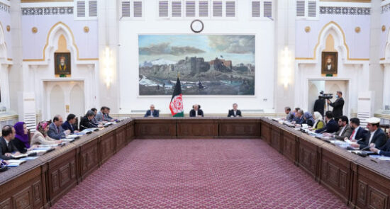 جلسه کابینه 550x295 - برگزاری جلسه کابینه تحت ریاست تحت رئیس جمهوری اسلامی افغانستان