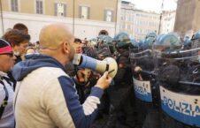 حمله پارلمان ایتالیا 3 226x145 - تصاویر/ حمله معترضین به پارلمان ایتالیا