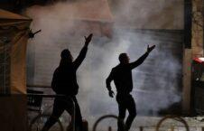 درگیری فلسطینی اسراییلی 4 226x145 - تصاویر/ درگیری جوانان فلسطینی با نظامیان اسراییلی