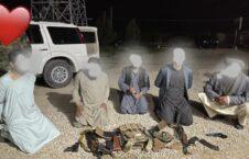 تصاویر/ دستگیر شدن ۵ عضو گروه طالبان در ولایت بلخ