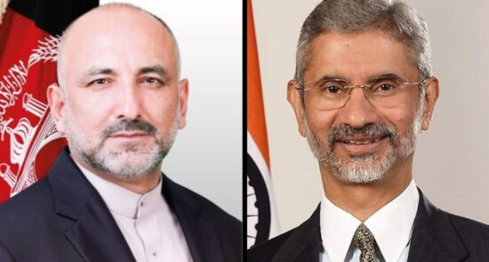 محمد حنیف اتمر سوبرامنیام جی شنکر 550x295 - قدردانی وزیر امور خارجه از همکاریهای هند در مبارزه با کرونا