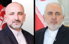 محمد حنیف اتمر محمد جواد ظریف 226x145 - گفتگوی تیلفونی وزیر امور خارجه کشورمان با همتای ایرانی اش