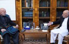 اشرف غنی حامد کرزی 1 226x145 - صلح افغانستان، محور گفتگوی اشرف غنی با حامد کرزی