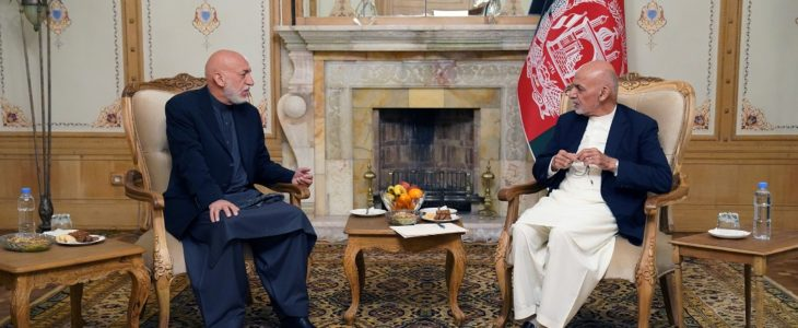 اشرف غنی حامد کرزی - بررسی اقدامات آینده در خصوص صلح افغانستان در دیدار اشرف غنی و حامد کرزی