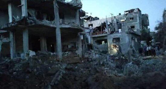 حمله اسراییل نوار غزه 5 550x295 - ابراز نگرانی سازمان ملل از اوضاع انسانی در غزه
