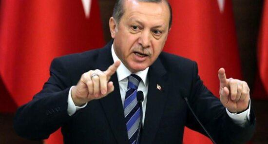 رجب طیب اردوغان 550x295 - درخواست رییس جمهور ترکیه از جامعه جهانی برای مقابله با اسراییل