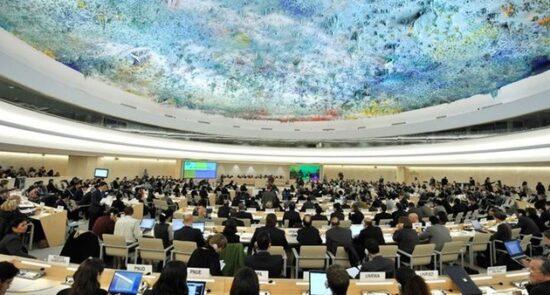 شورای حقوق بشر 550x295 - درخواست دهها کشور برای تشکیل نشست اضطراری شورای حقوق بشر علیه اسراییل