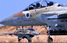 حملات هوایی طیارات جنگی اسراییلی بالای مناطق مسکونی در نوار غزه
